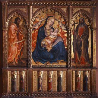 Taddeo di Bartolo: Az alázatosság Madonnája, 1395, tempera és arany, fa, Szépművészeti Múzeum - Régi Képtár