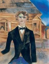 Marc Chagall: Önarckép a ház előtt (1914)