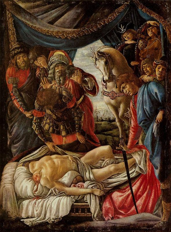 Sandro Botticelli: Holofernész holtestének megtalálása, 1470 k., Uffizi, Firenze