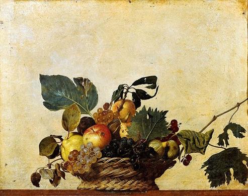 Caravaggio: Gyümölcsös kosár, 1596, Pinacoteca Ambrosiana, Milano