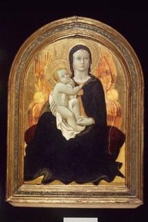 Sano di Pietro: Az alázatosság Madonnája, 1490k., Brooklyn Museum, New York