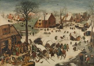 Id. Pieter Breughel: Betlehemi népszámlálás, 1566, Royal Museum of Fine Arts of Belgium