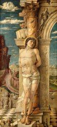 Andrea Mantegna: Szent Sebestyén, 1456-1459, Kunsthistorisches Museum, Bécs