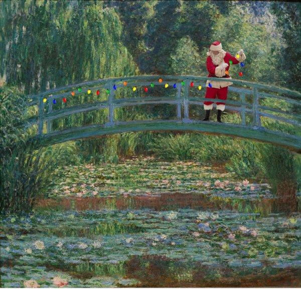 """Monet """"Híd a vízililiomok tava felett"""" (1899) című festménye után"""